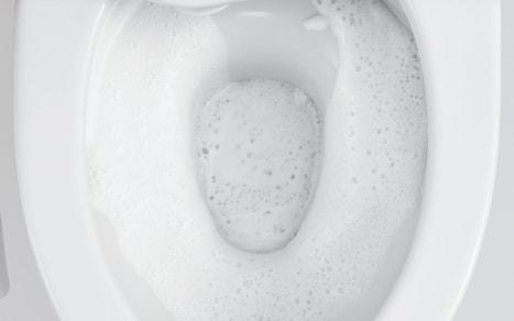 ウォシュレット取り付け屋さん:「パナソニック 温水洗浄便座 泡コートトワレ」泡の膜の画像
