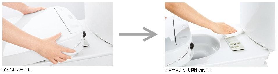 ウォシュレット取り付け屋さん:「TOTO ウォシュレット Sシリーズ」ワンタッチ着脱の画像
