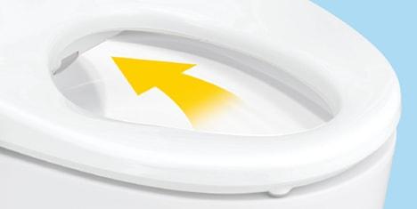 ウォシュレット取り付け屋さん:「パナソニック 温水洗浄便座 ビューティー・トワレ RJシリーズ」パワー脱臭の画像