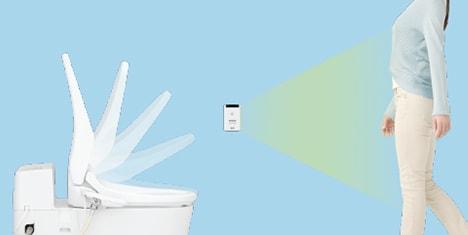 ウォシュレット取り付け屋さん:「パナソニック 温水洗浄便座 ビューティー・トワレ RJシリーズ」便ふた自動開閉の画像